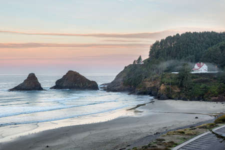 Parrot Rock, Pinnacle Rock and Heceta Head Lighthouse, Oregon
