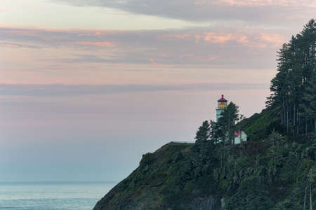 Heceta Head Lighthouse before sunrise, Oregon coast
