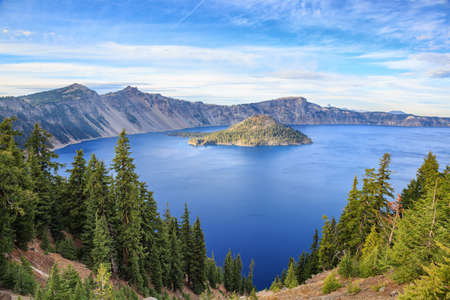 Panorama del Parco Nazionale del Crater Lake, Oregon, USA