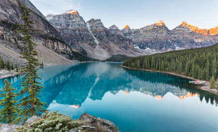 Moraine lake sunrise in Banff National Park, Alberta, Canada