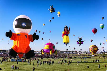 ALBUQUERQUE, NM - OCTOBER 06, 2013: Hot Air Baloon Fiesta in Albuquerque, New Mexico