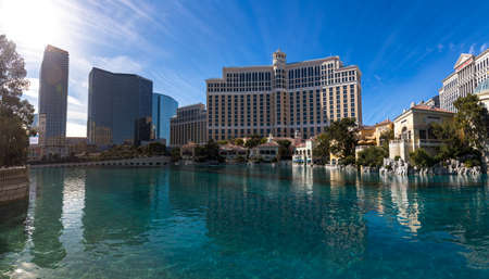 LAS VEGAS, NEVADA - JANUARY 03, 2018: Bellagio Hotel in Las Vegas