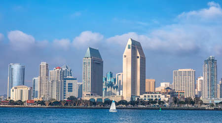 Downtown City of San Diego panorama, California USA