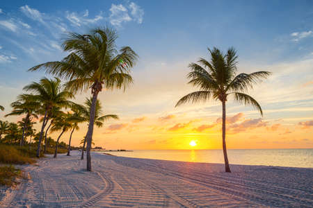 Sunrise on the Smathers beach - Key West, Florida