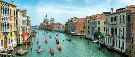 Venice, Italy - 11.06.2019: Vogalonga 2019 regatta on Grand Canal