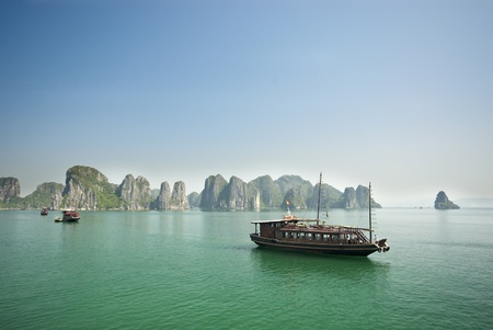 Ha Long Bay, Vietnam- tourist boat photo