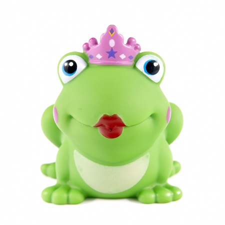 prince charming: Small rubber frog with big red lips.
