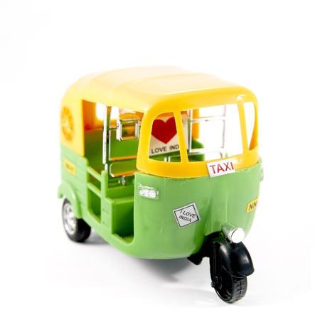 tuktuk: Plastic tuk-tuk from India, with sticker  I LOVE INDIA