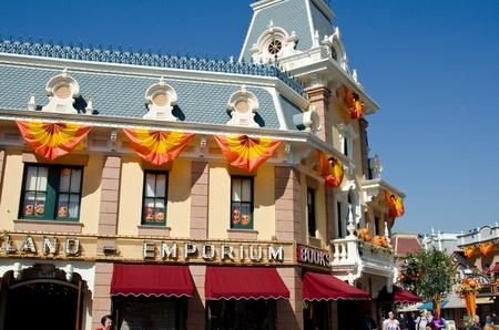 main street: Oct 17, 2011: Anaheim,CA Disneyland park in Anaheim. Main St USA.