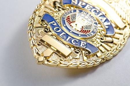 일반 찾고 경찰 배지의 필드 모양의 얕은 깊이 스톡 콘텐츠