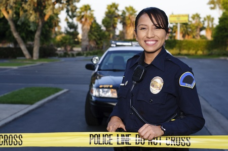 female cop: Police Line