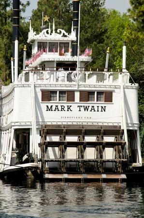 twain: Anaheim,CA- February 29, 2012   The Mark Twain riverboat on the Rivers of America at Disneyland in Anaheim,CA   Editorial