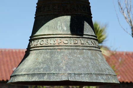 luis: Mission Bell at San Luis Obispo Mission in Central Ca  Stock Photo