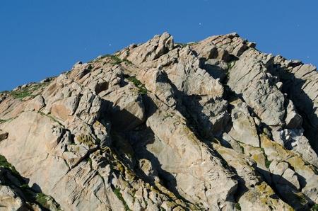 central california: a close up of Morro Rock along the Cental Coast of California.  Stock Photo