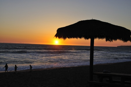 California sunset in San Clemente, which is in southern Orange County Stock Photo - 19449757