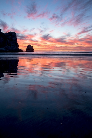 central california: Sunset in Morro Bay on an October evening