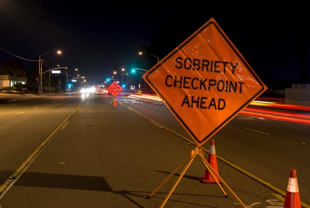 A DUI check point in Anaheim, CA  Фото со стока