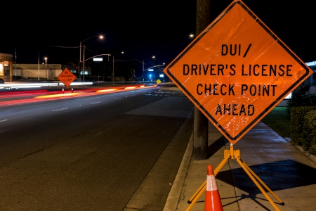 A DUI check point in Anaheim, CA  Stock Photo