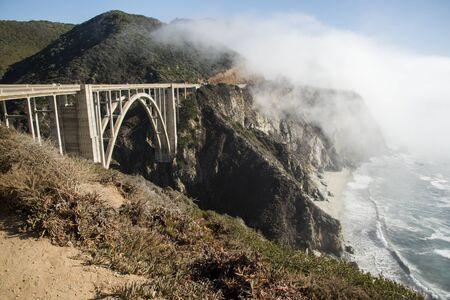 bixby: The Bixby Bridge on the west coast of California in Big Sur  Stock Photo