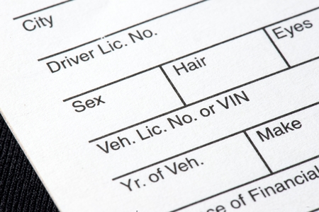 A close up of a traffic ticket  Stock Photo
