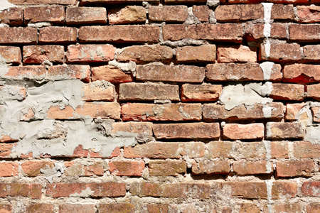 Old brick wall fragment background