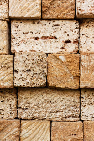 coquina: Building bricks from the coquina  Close-up photo of old stone texture Stock Photo