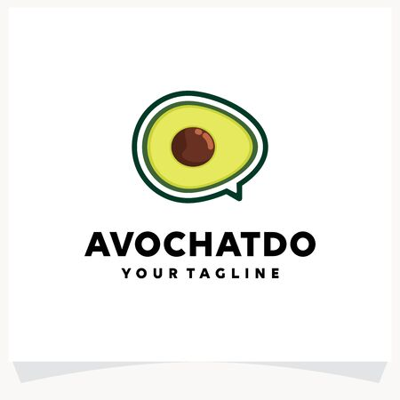Avocado Chat Logo Design Template
