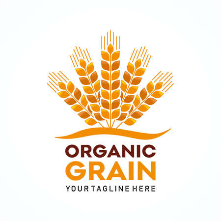 Organic Grain Logo Template Design Vector