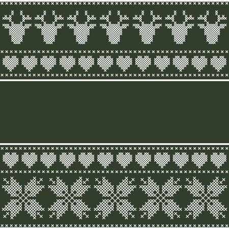 cross stitch: Winter design in cross stitch. Scandinavian style