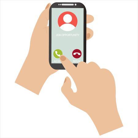 Recevez une offre d'emploi par téléphone