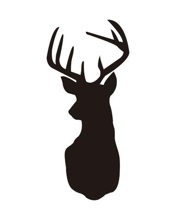 Deer Vector illustration isolated on white background. 일러스트
