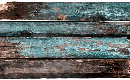 Painted blue old wood texture photo