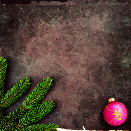 Christmas decoration on old, grunge background photo