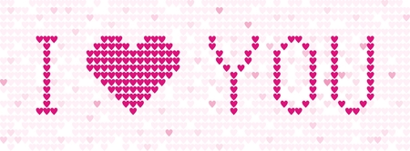 Pattern from hearts Vector