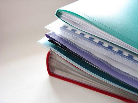 Pile of folders Stock Photo