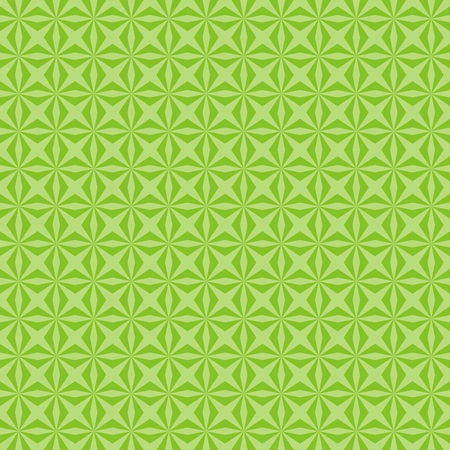 Green pattern from geometrical shapes Vector