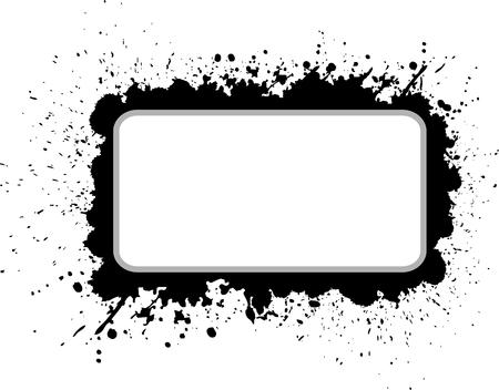 Grunge vector banner Illustration