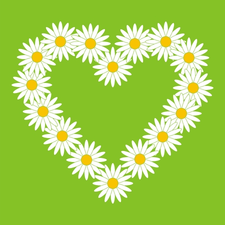 oxeye: Heart from chamomiles Illustration