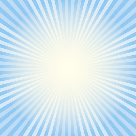 radiating: Raggi blu Vettoriali