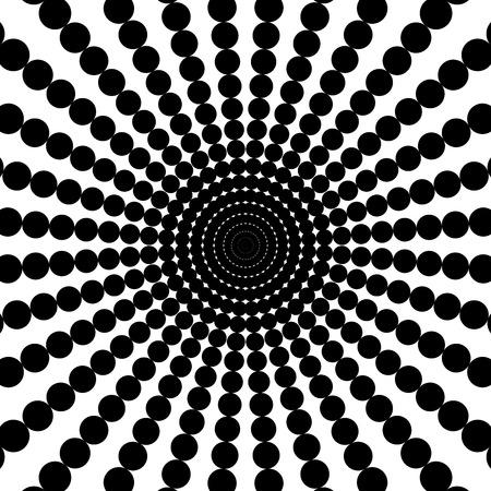 Black disco rays on the white background