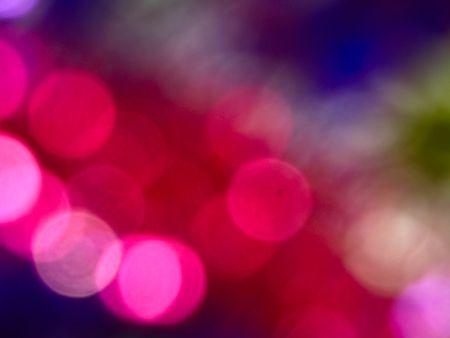 Bokeh. Photo of magnificent zoom lights.
