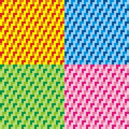 Set of seamless geometrical colored patterns