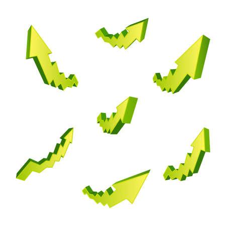 Set of arrows isolated on white background Illustration