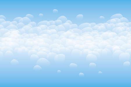 White bubbles on blue background Illustration