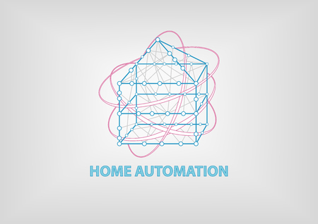 3 dimensional: Smart Home Automation 3 dimensional vector illustration. Shows connectivity between different devices at home