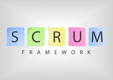 SCRUM アジャイル ソフトウェア開発フレームワーク  イラスト・ベクター素材
