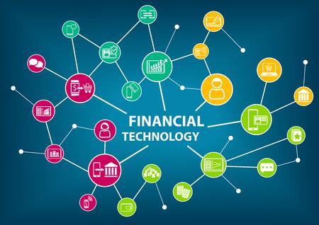 Financial Technology Fin Tech concept vector illustration