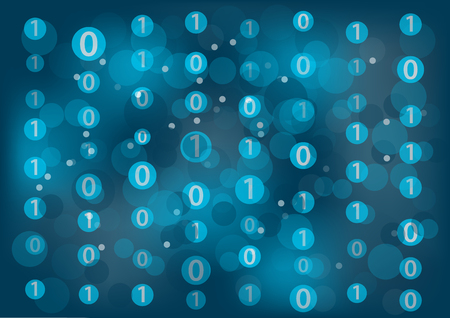 zeros: Information Technology IT generic background with zeros and ones floating around to represent binary messages.