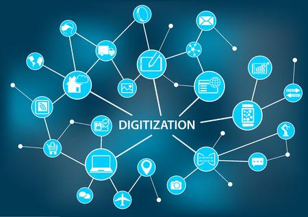 Digitization concept as vector illustration 일러스트
