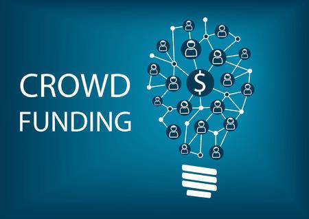 venture: Crowdfunding concept. Vector illustration background